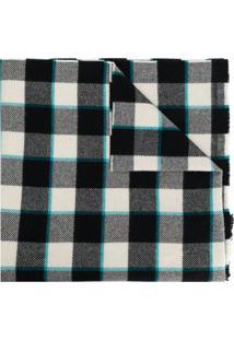 Acne Studios Cachecol Xadrez Cassiar - J83-Black/White