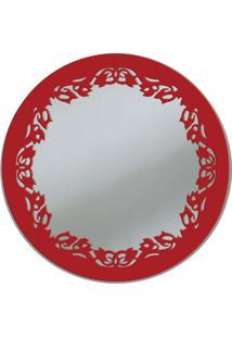 Espelho De Parede 13273V Vermelho 70X70 Art Shop