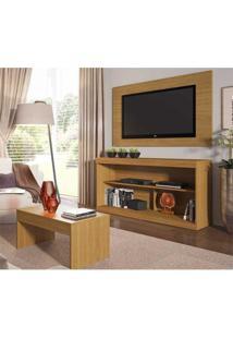 Rack C/Painel Tv Até 47 Pol Mesa Centro Inovare Multimóveis Natural Acetinado Texturizado