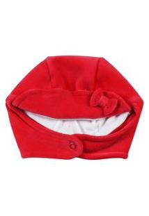 Enxoval Baby Ano Zero Touca Plush Vermelho