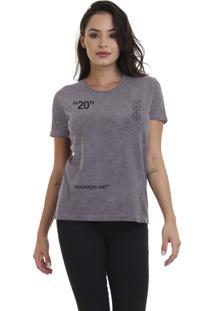 Camiseta Feminina Joss Fashion Art Chumbo - Kanui