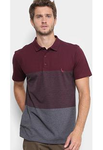 Camisa Polo Reserva Piquet Color Boradado Logo Masculina - Masculino-Bordô ea4093d8d3fd8