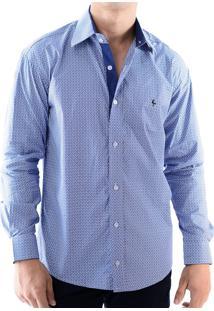 Camisa Zimpool Social Slim Fit Manga Longa Azul 3890ff521a9f7