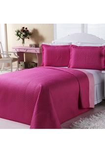 Kit Dourados Enxovais Combo Cobre Leito Jogo De Banho Dual Color Pink/Rosa Casal Padrão 08 Peças