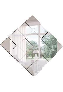 Espelho Decorativo Evidence 78 X 78 Preto
