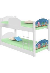 Beliche Infantil Fundo Do Mar Com 2 Colchãµes Casah - Azul/Branco - Dafiti