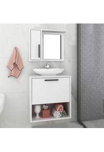 Armário De Banheiro 2 Portas Bbn18 Branco - Brv Móveis