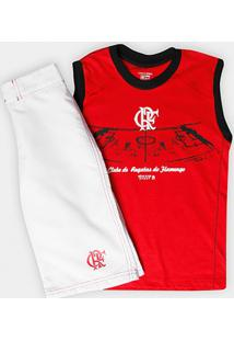 Conjunto Flamengo Infantil Bermuda E Regata - Masculino