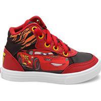 6df2923a17 Tênis Disney Cano Alto Carros Menino Infantil - Masculino-Vermelho+Preto