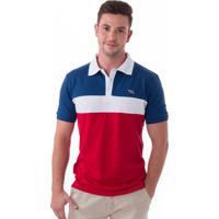 0d04026b79291 Camisa Polo Vista Mare Saint Marine Slim Fit Azul E Vermelho