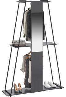 Closet Tog 2 Cabides Com Espelho Espresso - Bentec
