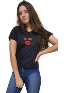 Camiseta Gola V Cellos Sigle Rose Premium Feminina - Feminino