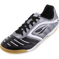 Chuteira Futsal Dray Topfly Iv Dr18-363Co Chumbo-Preto 5793a566719aa