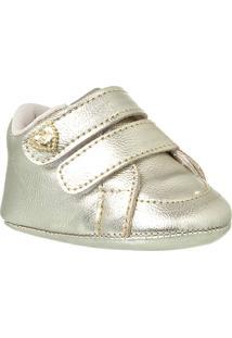 Sapatinho De Bebê Feminino Klin Recém-Nascido Velcros - Feminino
