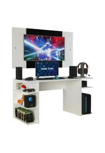 Mesa Gamer Madesa 9409 E Painel Para Tv Até 58 Polegadas - Branco Branco