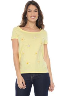 Camiseta Malwee Estrelas Amarela