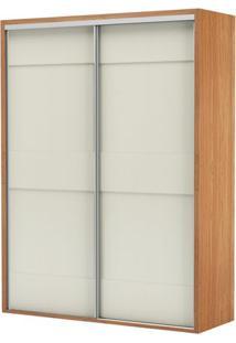 Armario Premium Com 2 Portas E 2 Gavetas Cor Freijo Com Off White Brilho 1,79 Mt (Larg) - 56452 - Sun House