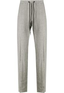 Emporio Armani Drawstring Tweed Trousers - Neutro