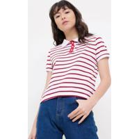 fc59e1a7613 Camiseta Listras Manga Curta feminina