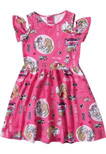 Vestido Barbie® Com Abertura Malwee Kids