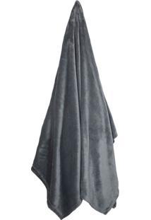 Cobertor Solteiro Velour Chumbo (150X200Cm)