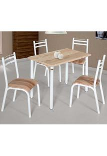 Conjunto De Mesa Com 4 Cadeiras - Plaza - Ciplafe - Capuccino