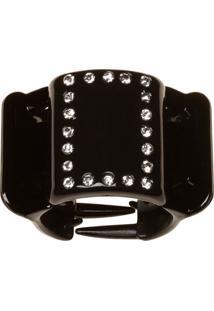 Prendedor De Cabelo Linziclip Basic Diamante Gloss Black Solid