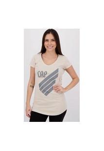 Camiseta Athletico Paranaense Feminina Bege