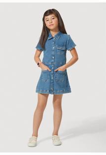 Vestido Hering Kids Jeans Com Elastano Play Jeans Azul