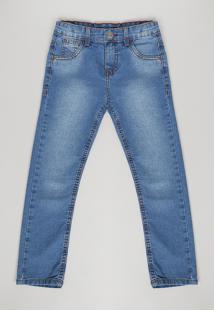 Calça Jeans Infantil Slim Azul Médio