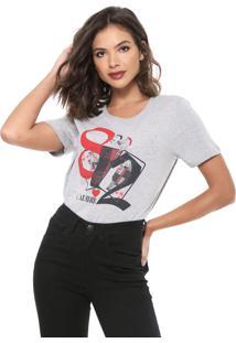Camiseta Carmim Copas Cinza