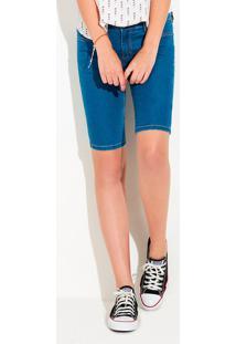 Bermuda Jeans Feminina Ciclista