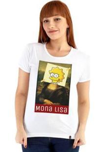 Baby Look Ouroboros Mona Lisa Feminino - Feminino-Branco