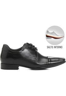 Sapato Social Couro Democrata Still Taller Masculino - Masculino-Preto