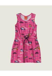 Vestido Curto Patrulha Canina® Menina Malwee Kids Rosa Claro - 4
