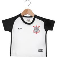 5a8bd2b8b6 Camisa Nike Corinthians Infantil Home To Branca