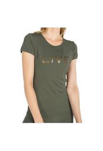 Camiseta Live Basic Holographic Jungle