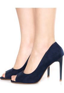Peep Toe Fiveblu Color Azul-Marinho
