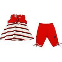 Conjunto Infantil Menina Flamengo Bata E Legging 629fc8d0950fa