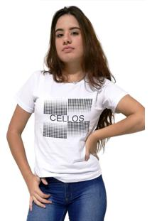 Camiseta Feminina Cellos Degrad㪠Premium Branco - Branco - Feminino - Dafiti