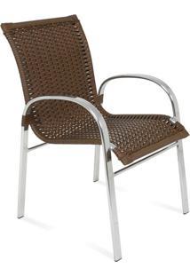 Cadeira Lua Para Área Externa Fibra Sintética Estrutura Alumínio Eco Friendly Design Scaburi