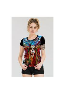 Camiseta Stompy Estampada Feminina Modelo 28 Preta