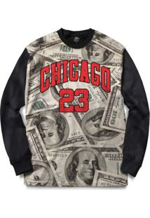 Blusa Bsc Chicago Dollar Full Print - Masculino