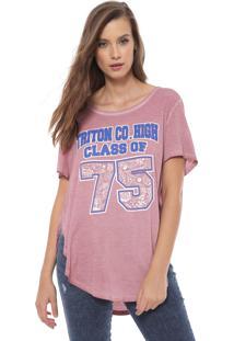 Camiseta Triton Estampada Rosa