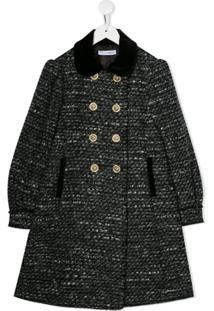 Dolce & Gabbana Kids Knitted Style Coat - Cinza
