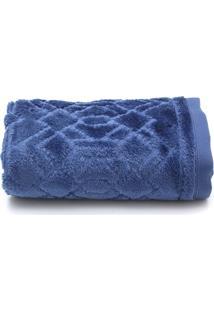 Toalha De Rosto Santista Platinum Alef Fio Penteado 50Cmx70Cm Azul