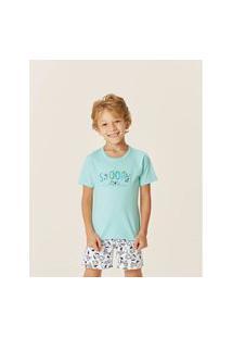 Pijama Malwee Infantil Menino Snoopy Verde