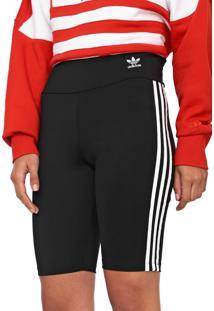 Bermuda Ciclista Adidas Originals Logo Preta/Branca