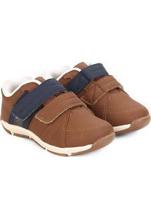 Sapato Infantil Klin Outdoor Masculino - Masculino-Marrom+Marinho