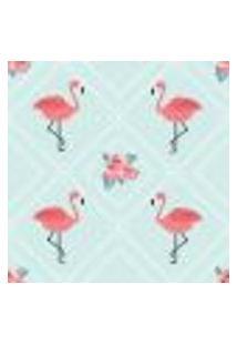 Papel De Parede Flamingos Flower